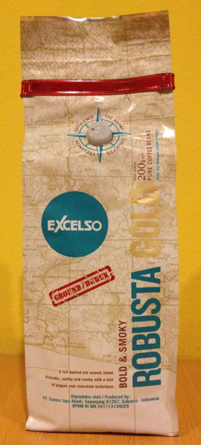 Bold & Smoky EXCELSO ROBUSTA GOLD 200g Ground Coffee