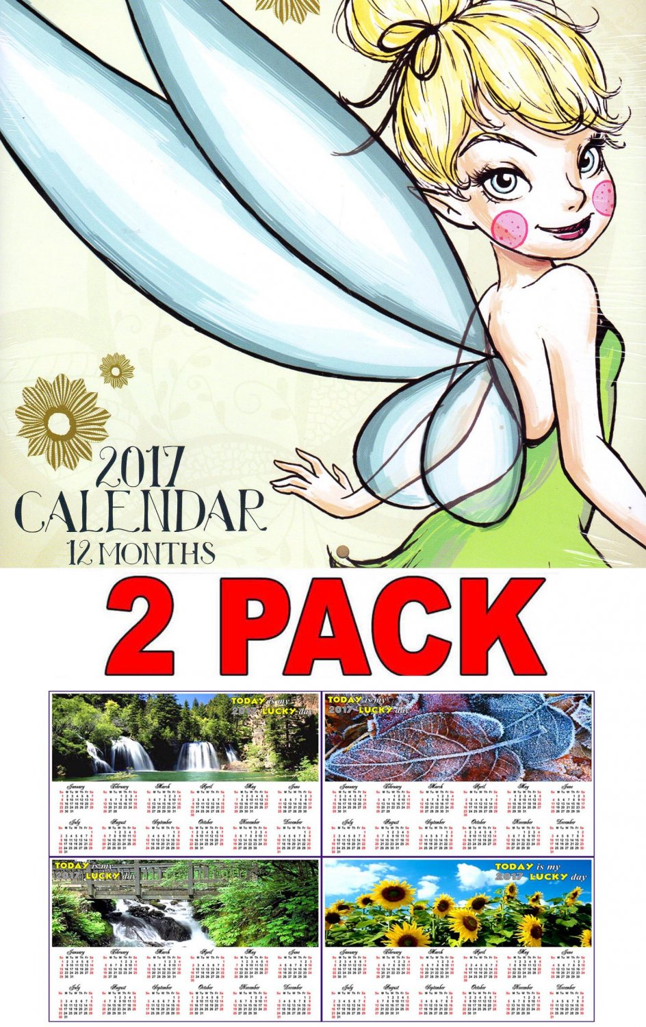 Disney Fairies - 2017 Wall Calendar
