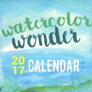 Watercolor Wonder - 2017 Wall Calendar