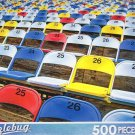 Colorful Stadium Seats - Puzzlebug 500 Piece Jigsaw Puzzle