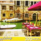 Small Venetian Restaurant Along the Canal, Venice, Italy - 300 Piece Jigsaw Puzzle