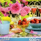 Puzzlebug 500 Piece Puzzle ~ Summer Table with Cherries & Lemonade
