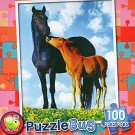 Mustang mare & Colt, Montana - PuzzleBug - 100 Piece Jigsaw Puzzle