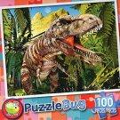 T-Rex Hunt - PuzzleBug - 100 Piece Jigsaw Puzzle
