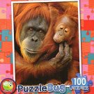 Mother and Baby Orangutan - Puzzlebug (100 Piece) Jigsaw Puzzle