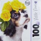 Petite Paws 100 Piece Puzzle ~ Cavalier Roses