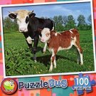 Baby Calf and Mother - Puzzlebug 100 Piece Jigsaw Puzzle