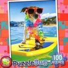Surfer Dog - Puzzlebug 100 Piece Jigsaw Puzzle