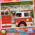 Firetruck and Dalmatian - Puzzlebug (100 Piece) Jigsaw Puzzle