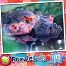 Mommy and Baby Hippo - 100 Piece Jigsaw Puzzle Puzzlebug