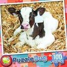 Baby Dairy Cow - 100 Piece Jigsaw Puzzle Puzzlebug