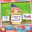 Chipmunk for President - 100 Piece Jigsaw Puzzle Puzzlebug