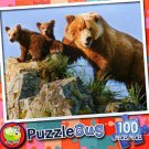 Grizzly Bear Mother and Cubs - Puzzlebug - 100 Pieces Jigsaw Puzzle