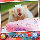 Little Mouse Eating Cake - Puzzlebug - 100 Pieces Jigsaw Puzzle
