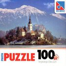 Lake Bled Church - 100 Pieces Jigsaw Art Puzzle