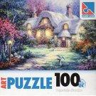 Garden Cottage - 100 Pieces Jigsaw Art Puzzle