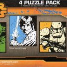 Star Wars 4 Puzzle Pack - 12 Piece Jigsaw Puzzle (Set of 4 Different Puzzles) V2