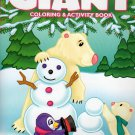 Christmas Edition Giant Coloring and Activity Book 160 Page ~ Snowman, Bear Family, and Penguin