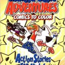 Manga Style Adventures Comics to Color Coloring Book ~ Action Stories for Kids