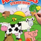 Animals - Sticker Coloring Book with 20 Stickers