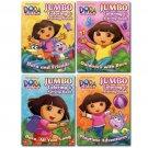 2pk Dora Jumbo Coloring & Activity Book 96 Pg - Assorted