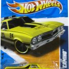 Hot Wheels 2011 Hot Wheels HW Main Street Fort Worth Fire '68 El Camino Yellow #167/244