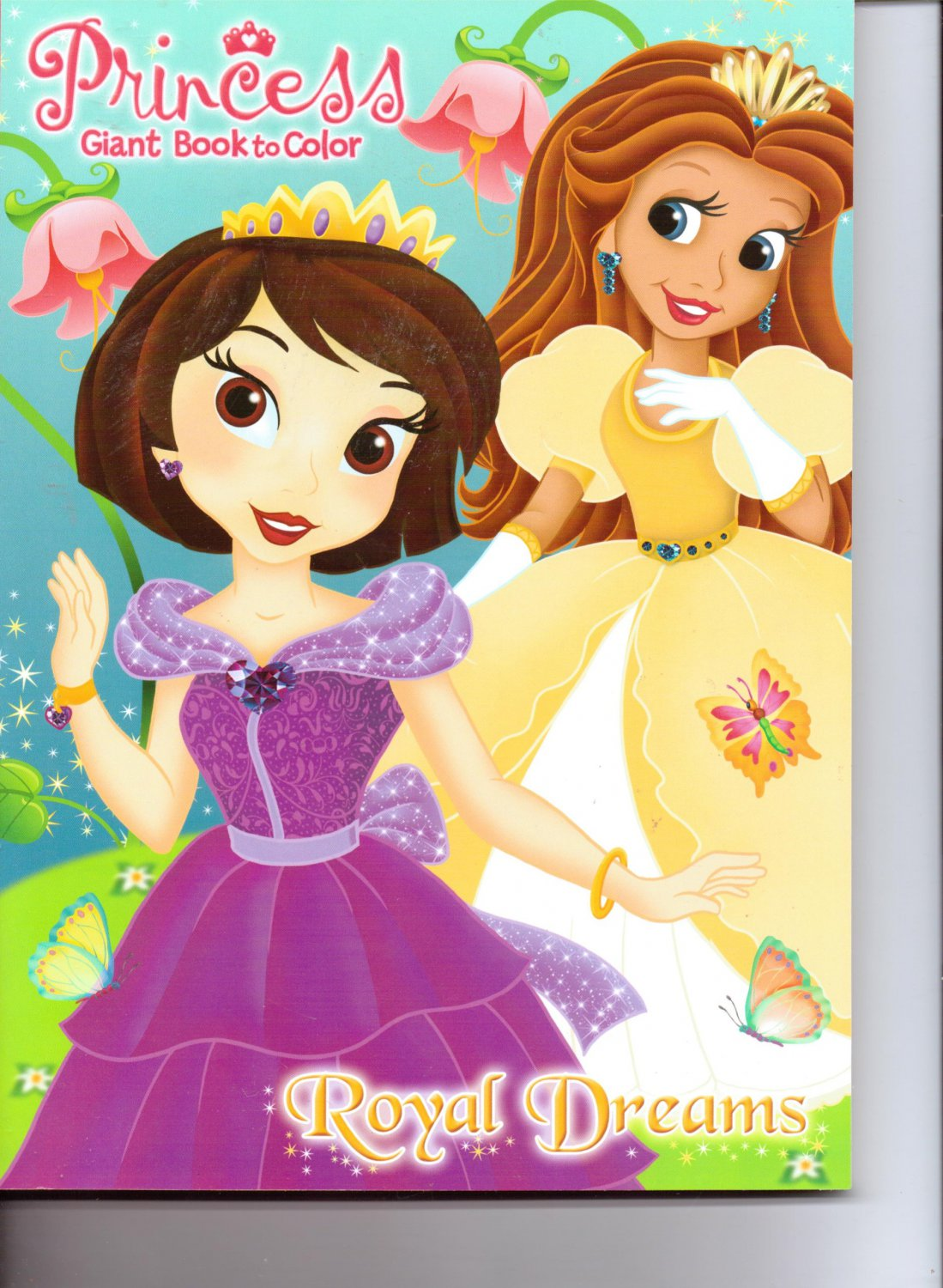 Princess Giant Book to Color ~ Royal Dreams. Assorted