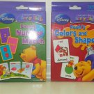 Disney Learn with Pooh Early Child Skills Card Sets (2 Packs Color & Shapes and Number Match)