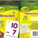 Crayola Subtraction Flash Cards
