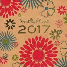 2017 Personal Monthly Planner / Calendar / Organizer - Monthly Page Format - v12