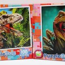 2 Puzzlebug Jigsaw Puzzles - 100 Pieces Each - Dinosaur & T-Rex Hunt