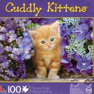 Ginger Cat In Flowers - Cuddly Kittens - 100 Piece Jigsaw Puzzle