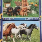 Bundle of 2 Puzzlebug 500 Piece Puzzles by LPF