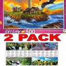 Sunset Cove Lighthouse by Vivien Chanelle - Art Box - 500 Piece Jigsaw Puzzle