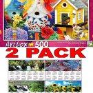 Friendly Neighbors III by Corinne Ferguson - Art Box - 500 Piece Jigsaw Puzzle
