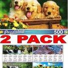 Puppy Pals - 500 Piece Jigsaw Puzzle Puzzlebug + Bonus 2017 Magnetic Calendar