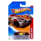 Hot Wheels 2012 Thrill Racers - Volcano 1/5 Dodge XP-07 201/247 (Silver with Red Wheels)