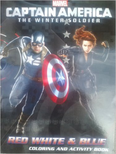 Marvel Captain America the Winter Soldier Coloring & Activity Book ~ Red, White & Blue