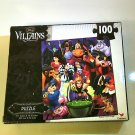 Disney Villains ~ 100 Piece Jigsaw Puzzle ~ Fantastic Time Span Then & Now!