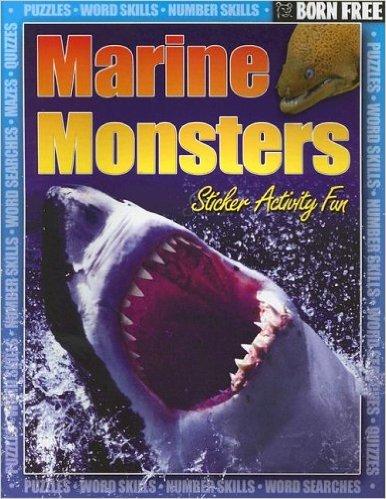 Born Free Marine Monsters with Sticker. Book   Gordon Volke