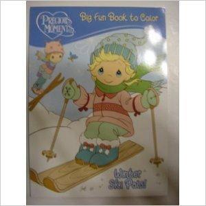 Precious Moments Big Fun Book to Color ~ Winter Ski Pals!