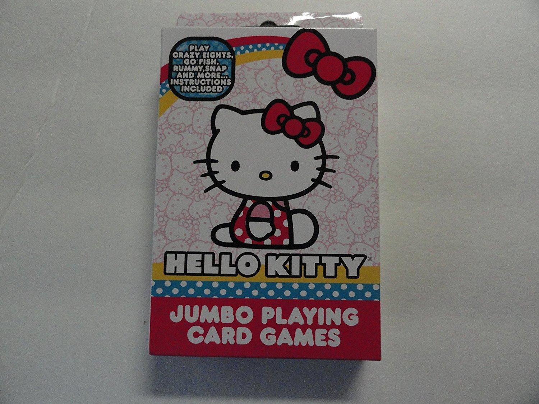 Hello Kitty Jumbo Playing Card Games