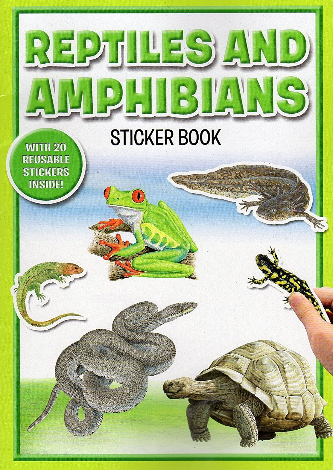 Reptiles and Amdhibians - Sticker Book with 20 Stickers