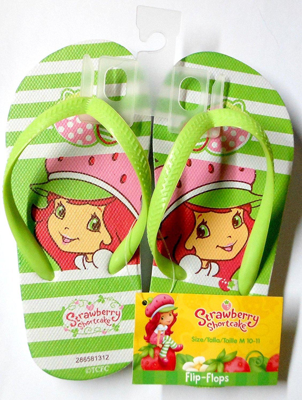 Strawberry Shortcake Flip Flops Size M 10 - 11 (Kids)