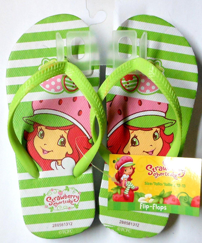 Strawberry Shortcake Flip Flops Size L 12 - 13 (Kids)
