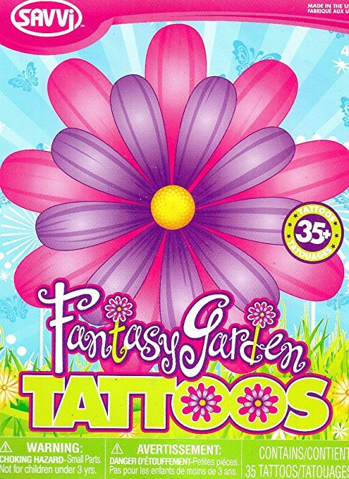Fantasy Garden 35 Temporary Tattoos By Savvi