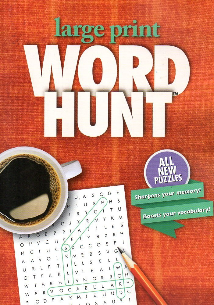 Large Print Word Hunt - All New Puzzles - Copper Rug. Activity Book