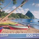 Puzzlebug 500 Piece Puzzle -- Fishing Boats at Soufriere, St. Lucia, Caribbean