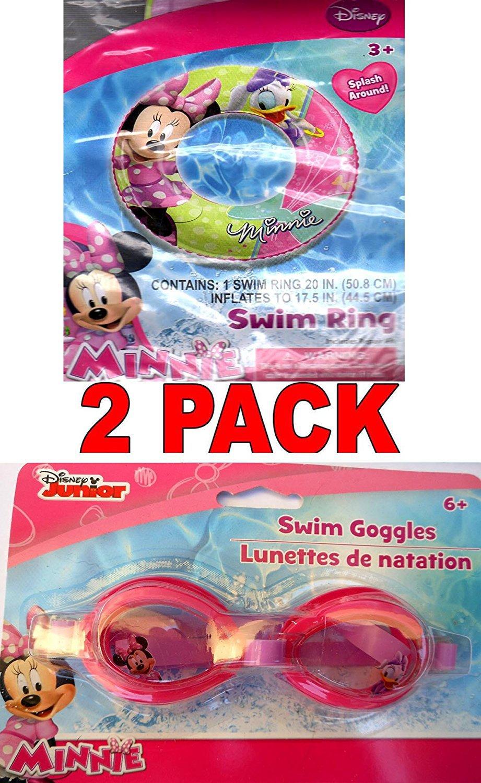 "Disney Minnie 20"" Swim Ring and Disney Minnie Swim Goggles (2 Pack)"