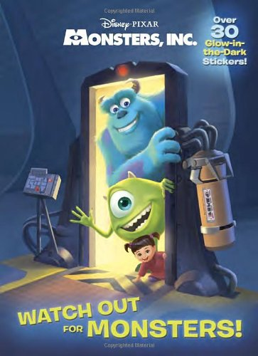 Watch Out for Monsters! (Disney/Pixar Monsters, Inc.) (Glow-in-the-Dark Sticker Book)